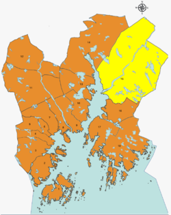 Location of District Tveit