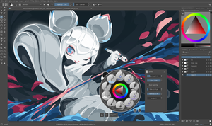 Krita 4.0 pre-alpha interface screenshot with kiki.png