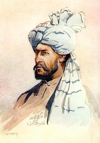 Kurram Militia - Watercolour of a member of the Kurram Militia by Major Alfred Crowdy Lovett, 1910