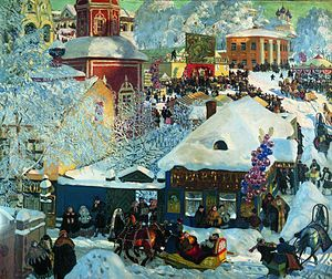 Boris Kustodiev -  Winter-festivities 1919