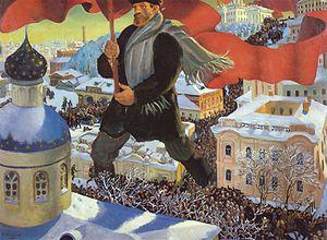 Symphony No. 2 (Shostakovich) - Bolshevik (1920), by Boris Kustodiev.