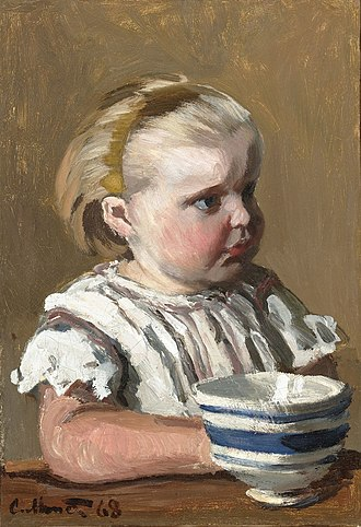 L'Enfant a la tasse - Image: L'Enfant a la tasse, portrait de Jean Monet