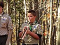 LA- Boy Scout Troop 14 Bugler sounds taps (6354627939).jpg