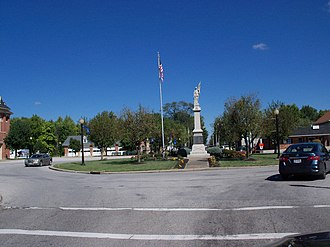 LaGrange, Ohio - Roundabout at intersection in LaGrange