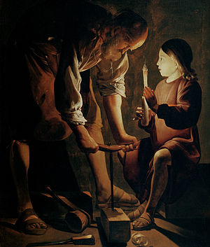 Georges de La Tour - Joseph the Carpenter, 1642, Louvre.