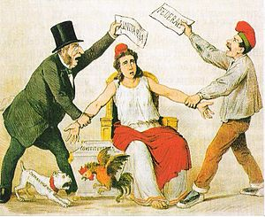 Federalism - Satiric depiction of late 19th century political tensions in Spain