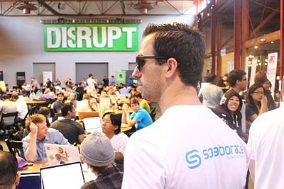 2013年,Solaborate的CEO at Disrupt TechCrunch SF