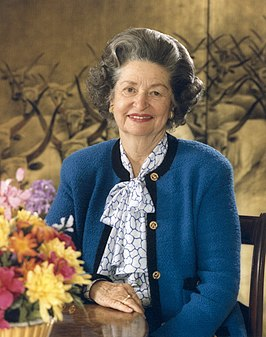 Lady Bird Johnson in 1987