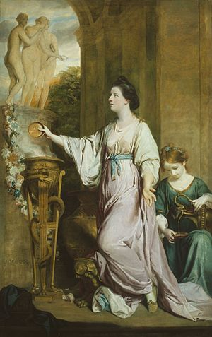 Lady Sarah Lennox - Lady Sarah Bunbury Sacrificing to the Graces by Sir Joshua Reynolds, 1765