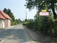 Laires (Pas-de-Calais) city limit sign.JPG