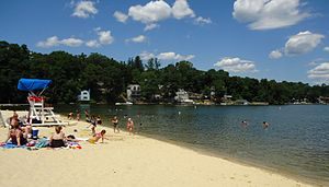 Lake Hopatcong - Beach at Lake Hopatcong State Park.