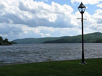 Lake Massawippi - Lake Massawippi, seen from North Hatley