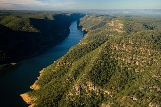 Greater Blue Mountains Area - Image: Lake burragorang aerial