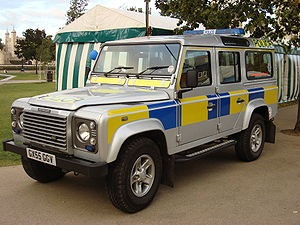 a Sussex Police Land Rover Defender