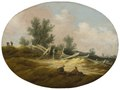 Landscape with a Wooden Fence and Figures (Salomon van Ruysdael) - Nationalmuseum - 177817.tif