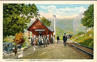 Ulster and Delaware Railroad - The railroad station at Lanesville, New York
