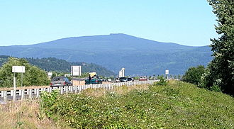 Larch Mountain (Multnomah County, Oregon) - Larch Mountain, as seen from Washougal, Washington.