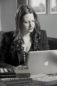 Larissa Behrendt at work 2012.jpg