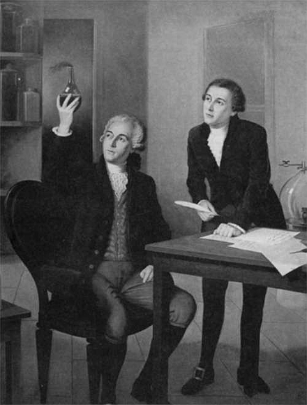 Eleuthere Irenee du Pont (right) and mentor Antoine Lavoisier Lavoisier und Nemours.png