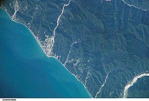 Lazarevskoye Microdistrict - View from space