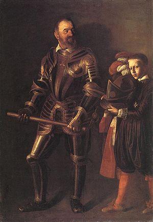 Page (servant) - Alof de Wignacourt and a page, by Caravaggio. Louvre, Paris.