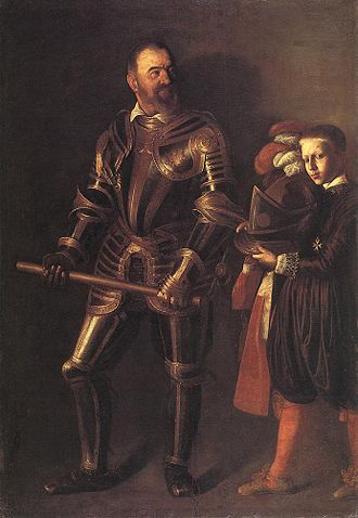Page (servant) - Alof de Wignacourt and a page, by Caravaggio. Louvre, Paris.