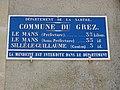 Le Grez (Sarthe) plaque de cocher.jpg
