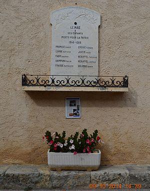 Le Mas - Le Mas War Memorial