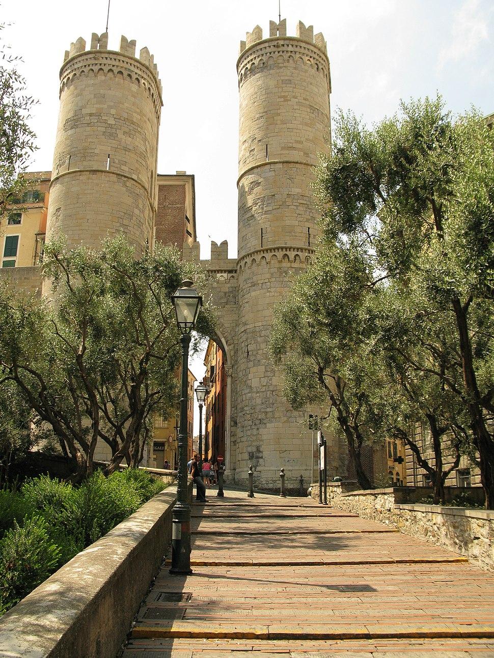 Le torri di Porta Soprana, Genova