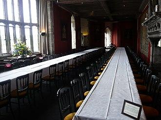 Leeds Castle - Image: Leeds castle dining hall