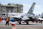 Left Rear View of ROCAF F-CK-1A 1484 at Hualien AFB Apron 20160813.jpg