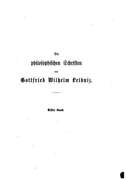File:Leibniz - Die philosophischen Schriften hg. Gerhardt Band 1.djvu