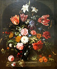 Flowers in a Vase in a Niche