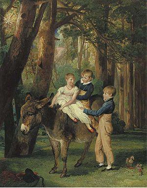 Wychnor Hall - The Levett Children. John, Theophilus and Frances Levett. Portrait by James Ward, RA, Wychnor, Staffordshire, November 1811