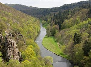 Jihlava (river) - The Jihlava at Lhánice