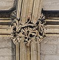 Lincoln Cathedral, Angel Choir N aisle, 4th roof boss from E (25738927808).jpg