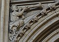 Lincoln Cathedral, Angel with Trumpet (32143013531).jpg