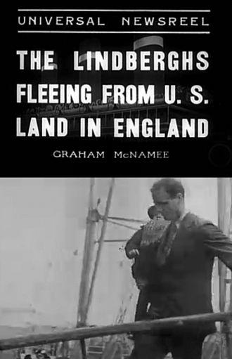 Jon Lindbergh - Newsreel image of Charles and Jon Lindbergh arriving in England in 1936.