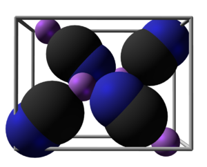 Lithium cyanide - Image: Lithium cyanide unit cell 3D SF
