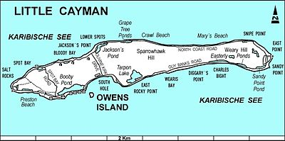 photo relating to Printable Map of Grand Cayman identify Tiny Cayman - Wikipedia