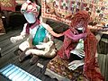Little world, Aichi prefecture - Main exhibition hall - Dowry in India - Groom and bride - Gujarat, India.jpg