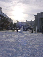 Central Vilnius in winter.