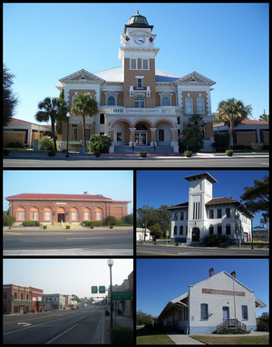 Live Oak, Florida - Suwannee County Courthouse, Old Post Office, Old Live Oak City Hall, Downtown Live Oak, ACL Freight Station