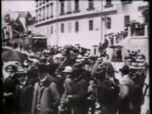 The oldest preserved film recordings of Ljubljana (1909), with a depiction of streets, the Ljubljana tram, and a celebration. Salvatore Spina Company, Trieste[59]