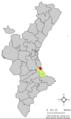 Localització de Tavernes de la Valldigna respecte del País Valencià.png