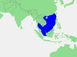 Carte de localisation de la mer de Chine méridionale.