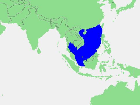 Locatie Zuid-Chinese Zee