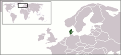 Location of Kongeriget Danmark