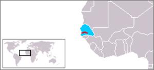Senegambia Confederation - Image: Location Senegambia