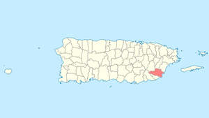 Location of Yabucoa, Puerto Rico within Puerto Rico.